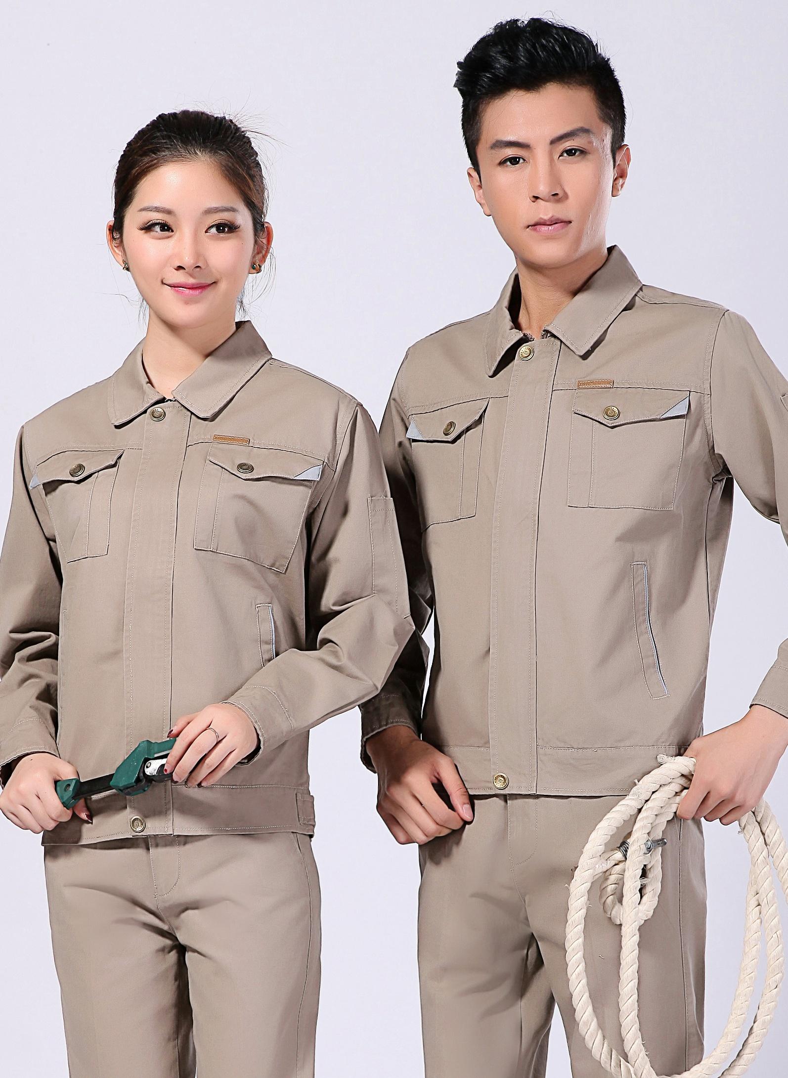 2020新款春秋工作服长袖全面防静电男女工作服 - 009A - 乐好英超