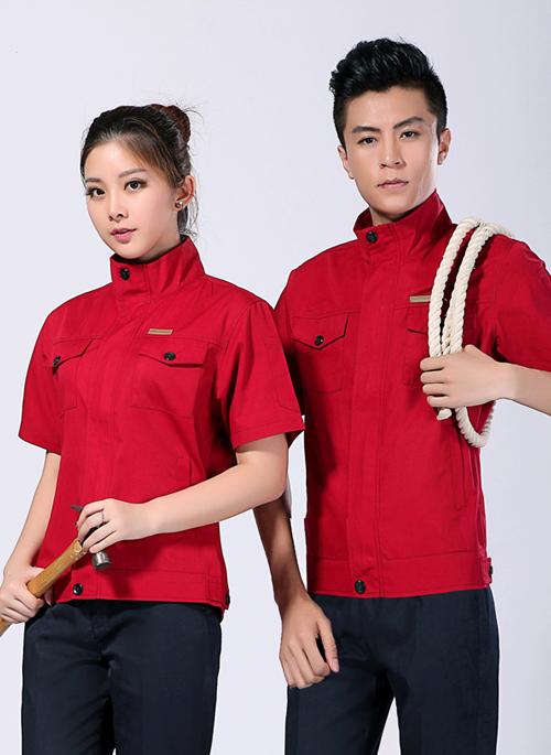 2019夏季新款包边包缝短袖工作服套装 - 106A - 乐好英超