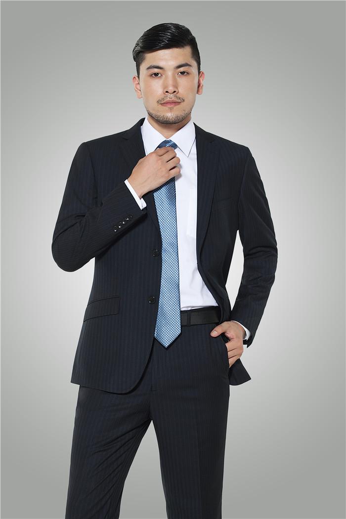 新款修身男西服商务职业装 - H100303 - 乐好英超