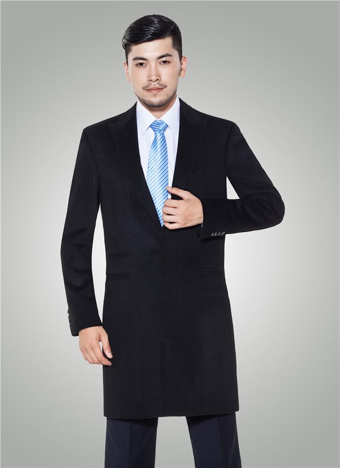 男士新款中长款大衣商务修身大衣-H90010501 -乐好英超