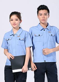 2021夏季新款劳保服短袖涤棉男女工作服 -100A(上)-乐好英超