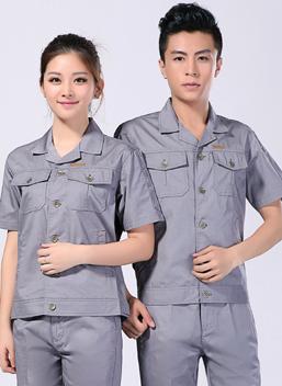 2021新款劳保工作服男女夏季短袖工作服 -107A - 乐好英超