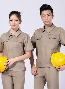 2021夏季男女涤棉短袖工作服劳保服 -102A -乐好英超