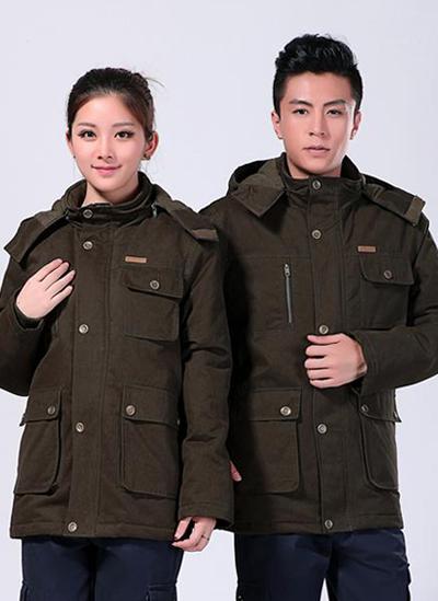 2020冬季新款棉衣工作服制服军绿中长款 -501A - 乐好英超