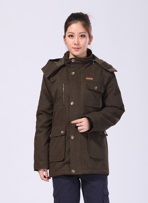 2020冬季新款棉衣制服工作服军绿中长款 -501A - 乐好英超