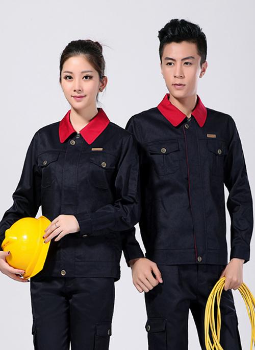 2021新款长袖男女春秋工作服涤棉藏蓝色 -051A - 乐好英超