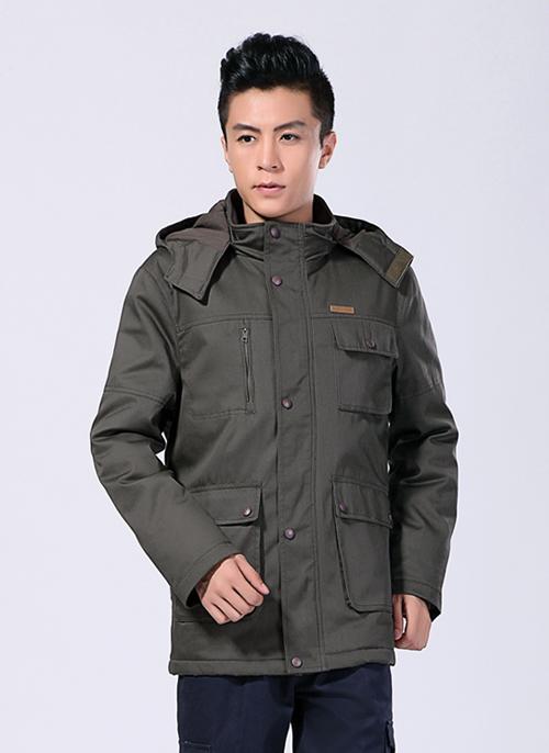 2019冬季新款棉衣制服工作服铁灰防静电中长款 -500A -乐好英超