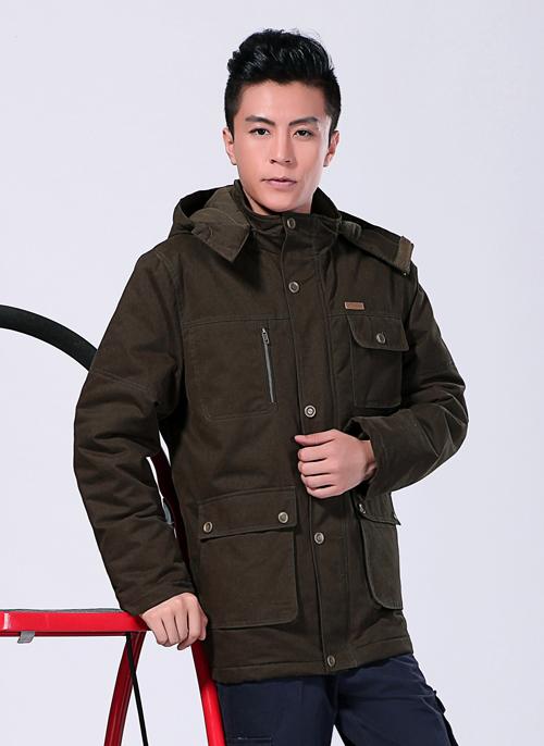 2019冬季新款棉衣工作服制服军绿中长款 -501A - 乐好英超