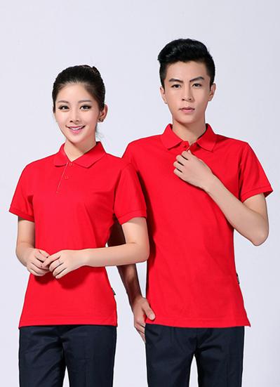 2020新款夏季工作服红色polo衫短袖T恤衫 -612A - 乐好英超