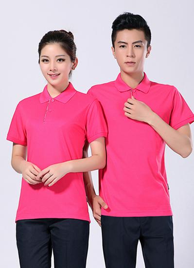 2021新款工作服夏季短袖玫红 polo衫 T恤衫 -611A - 乐好英超