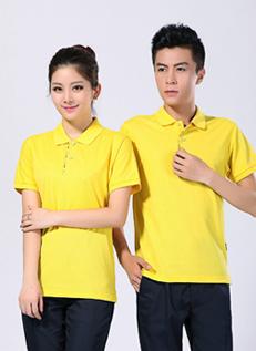 2019新款夏季短袖polo衫工作服  黄色T恤衫 -610A - 乐好英超