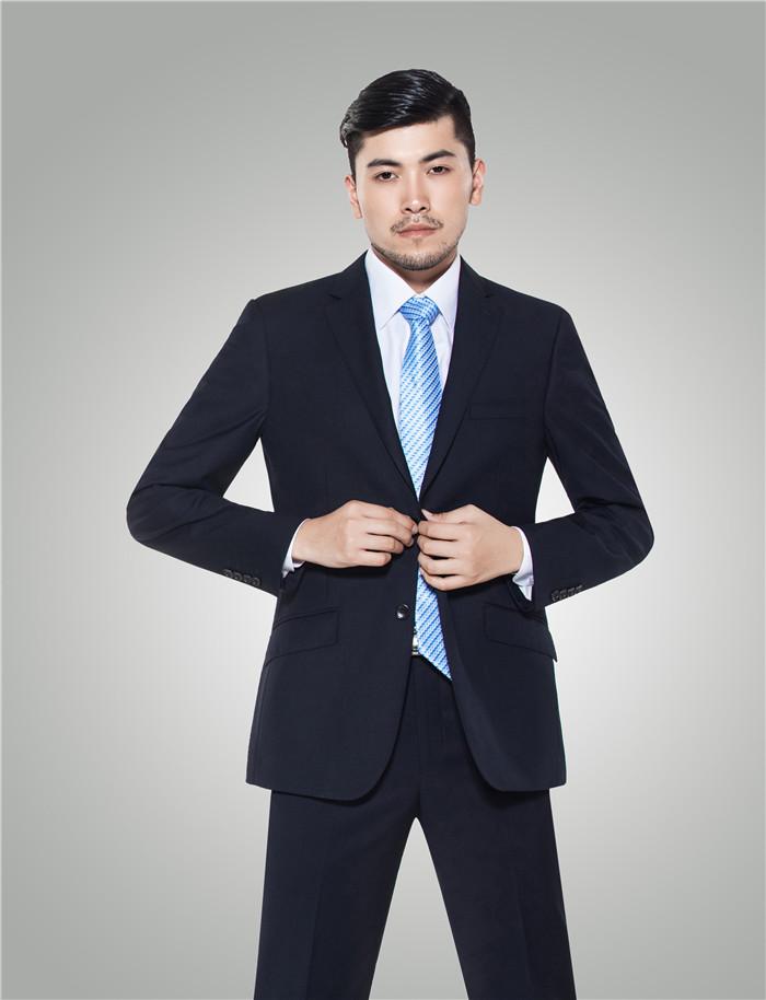 男士商务西装修身职业装套装 - H100801 - 乐好英超