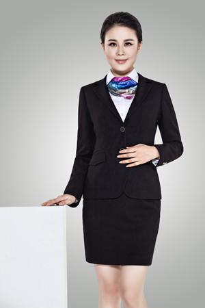 女士时尚西服修身职业装工作服套装-N100101-乐好英超