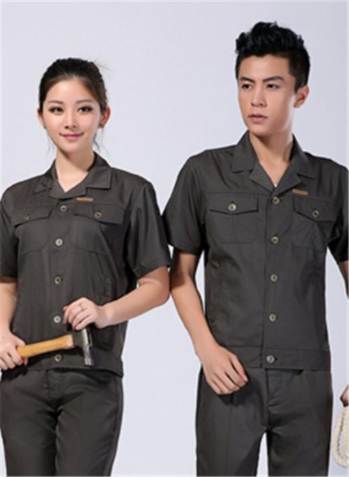 2020夏季男女劳保工作服短袖涤棉工作服 -105A -乐好英超