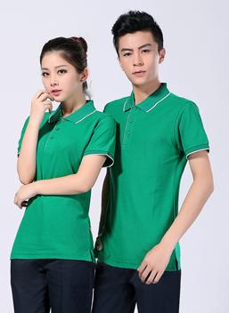 2019新款夏季工作服全棉短袖草绿T恤衫polo衫-600A -乐好英超