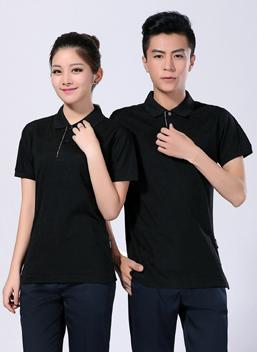 2019新款夏季工作服黑色短袖polo衫T恤衫 -613A -乐好英超