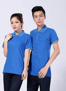 2019新款夏季短袖蓝色全棉polo衫T恤衫 -602A -乐好英超