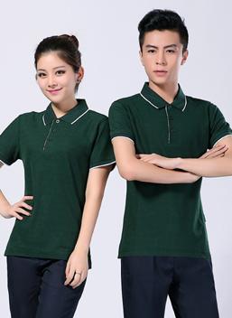 2019新款夏季短袖墨绿全棉polo衫T恤衫-601A -乐好英超