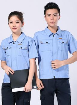 2020夏季新款劳保服短袖涤棉男女工作服 -100A(上)-乐好英超