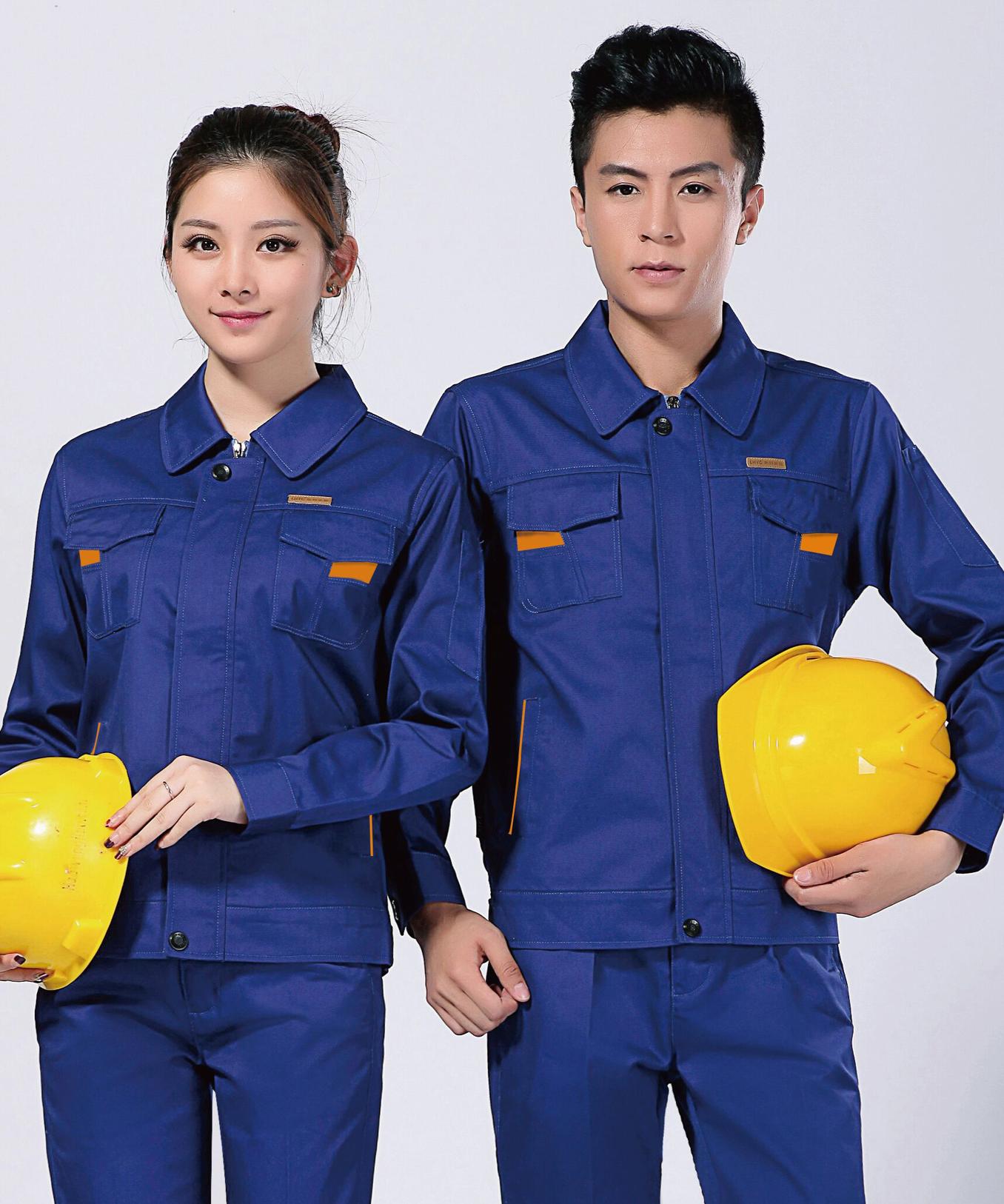 2020新款防静电春秋工作服劳保服套装-乐好英超-057A