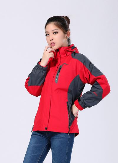 冬季冲锋衣工作服可拆卸防风防水冲锋衣定做-红色-乐好英超